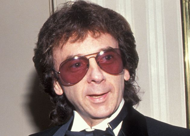 Phil Spector photographed at the Rock and Roll Hall of Fame induction ceremony in