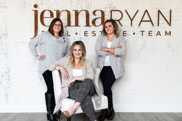 Jenna Ryan, centre, assistant Lise, left, and team member Sydney in Sudbury, Ont., have been trying to...
