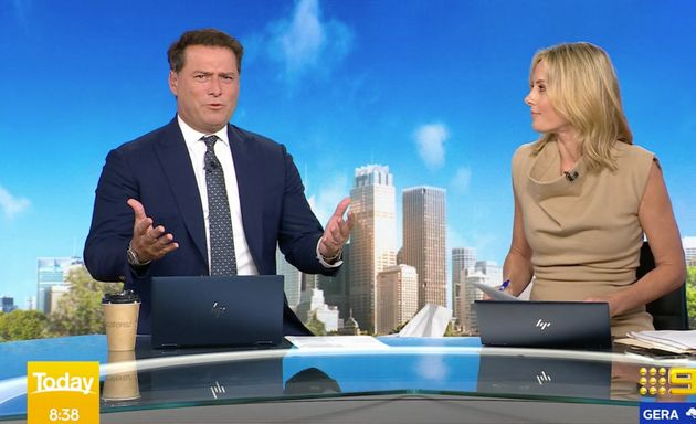 'Today' hosts Karl Stefanovic and Allison Landgon discuss international tennis players complaining about...