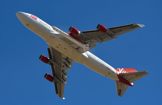 For the first time, a Richard Branson Virgin Orbit rocket hits space (photo from January 17 ...