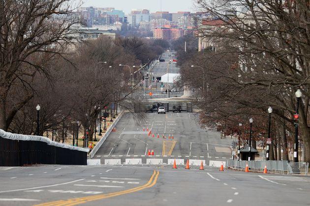 封鎖された道路(2021年1月17日)