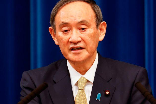 7府県への緊急事態宣言追加発令について、記者会見する菅義偉首相=13日、首相官邸