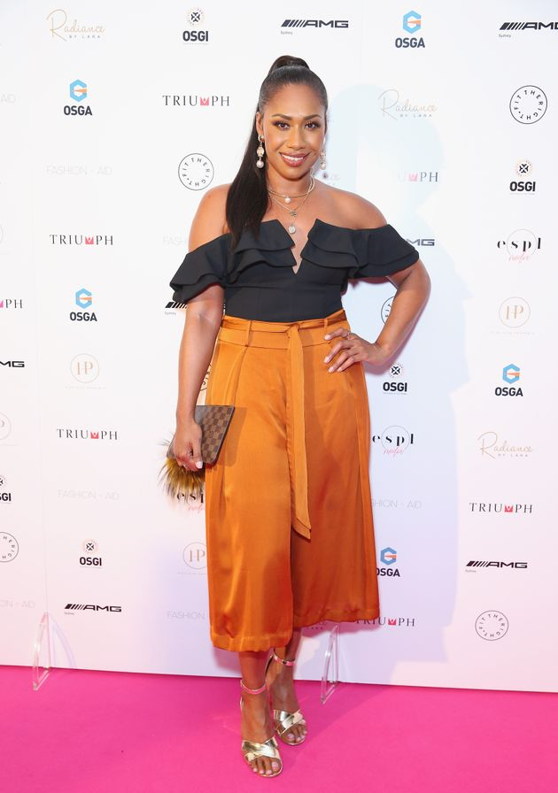 Paulini attends FASHION + AID 2018 Sydney on November 24, 2018 in Sydney,