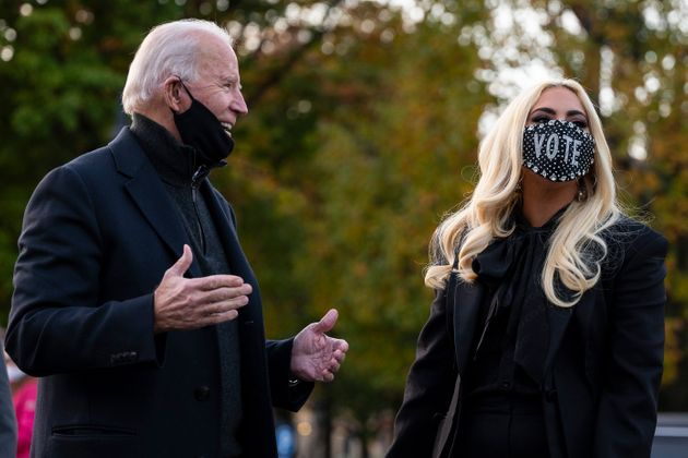Joe Biden and Lady Gaga in November