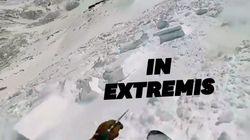 Ce snowboardeur sort indemne d'une avalanche en activant son