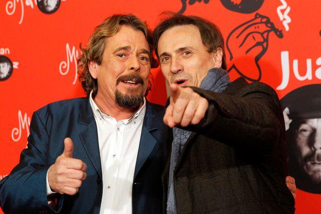 Los humoristas Juan Muñoz y José Mota en la presentación del 'show' 'Historias mías' en