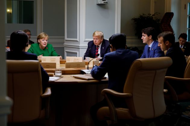 German Chancellor Angela Merkel, U.S. President Donald Trump and Canadian Prime Minister Justin Trudeau...