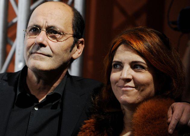 Jean-Pierre Bacri et Agnès Jaoui, lors de la présentation de leur film