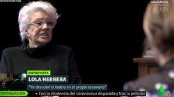 La indirecta muy directa de Lola Herrera sobre Vox en 'Liarla Pardo': le basta una
