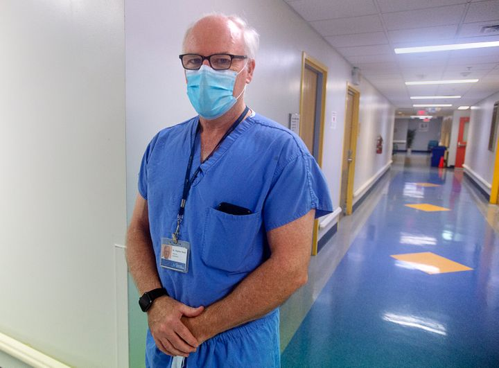 "Dr. Stephen Beed, medical director of Nova Scotia's organ and tissue donation program, is seen at the Halifax Infirmary in Halifax on Jan. 14, 2021. Dr. Beed says the province's organ and tissue donation program is an ""opportunity to transform a component of the health-care system."""