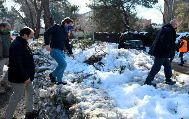 Almeida, entre nieve en