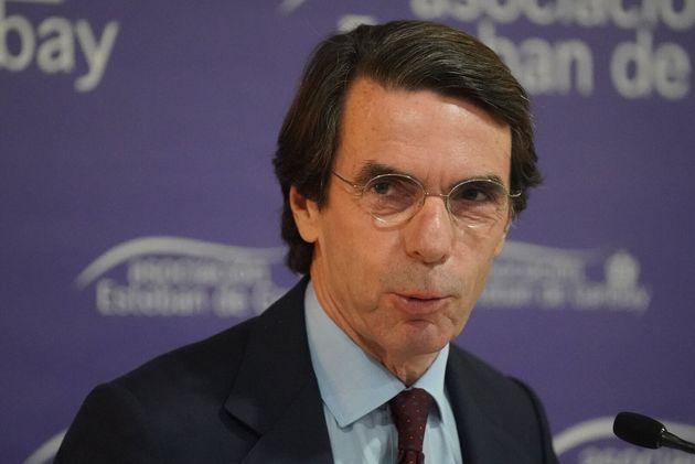 Aznar, durante un acto