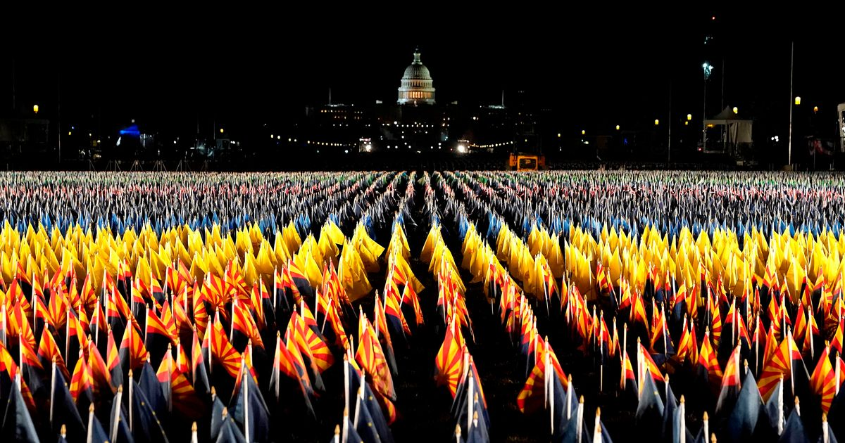 Stunning 'Field Of Flags' Lights Up In National Mall Ahead Of Biden Inauguration