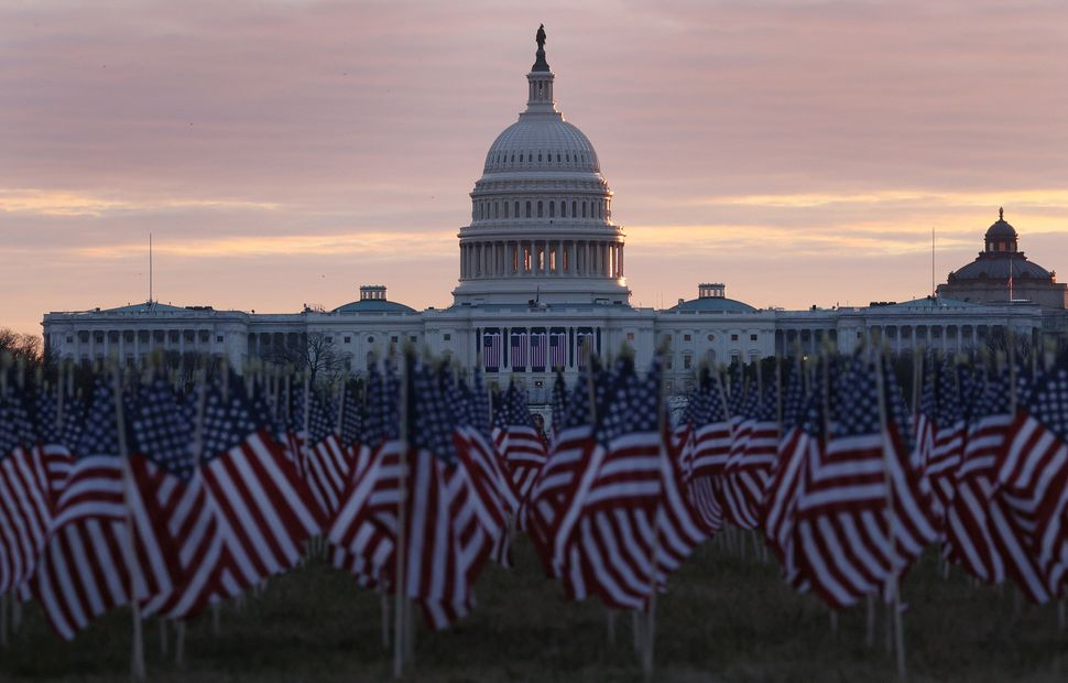 """The """"Field of Flags"""" will take the place of tens of thousands of American people at President-elect Joe Biden's inauguration."""