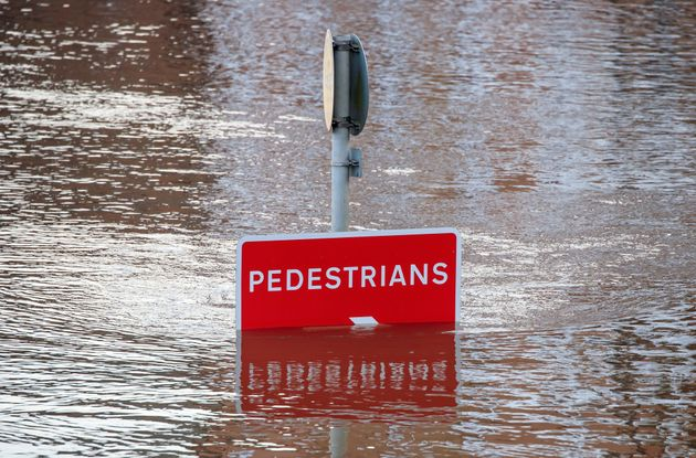 Flooding in York, Yorkshire, after the River Ouse burst its banks on