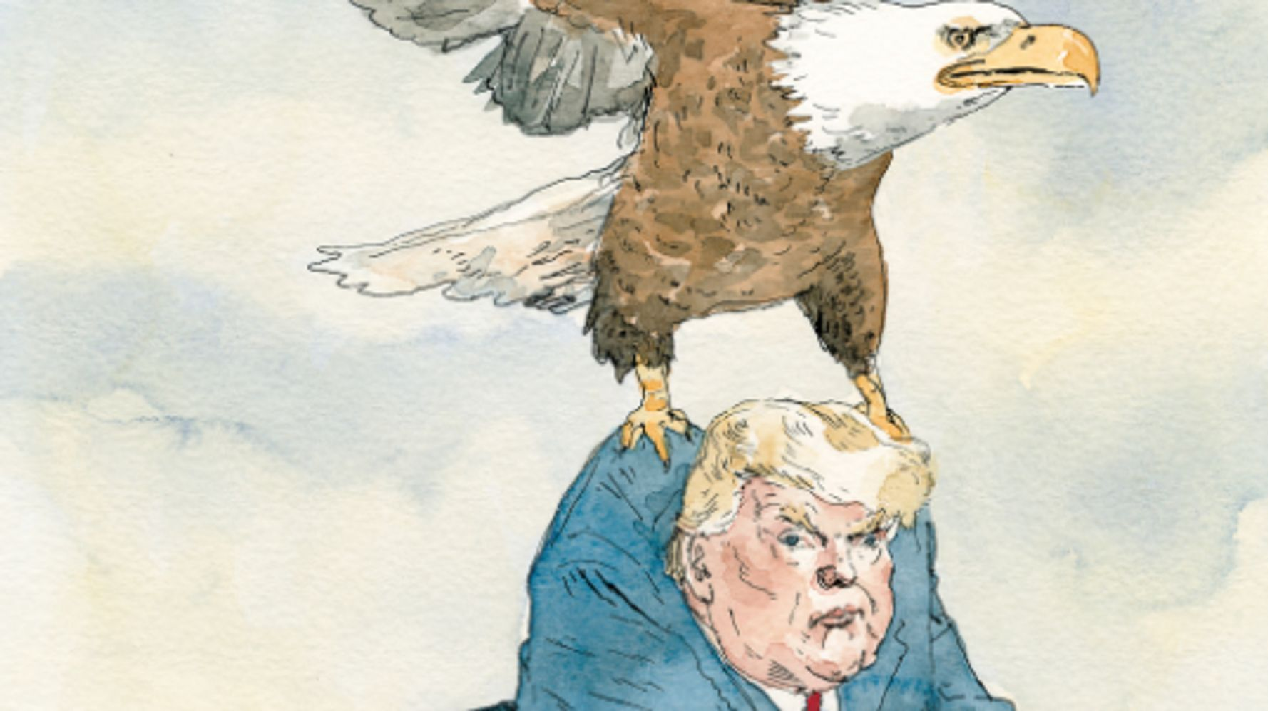 Donald Trump's Final Flight Out Of D.C. Gets The New Yorker Treatment