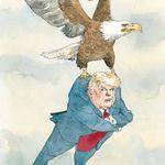 Voici le vol de Trump quittant Washington dans les yeux du «New