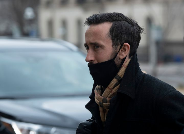 Conservative MP Derek Sloan is spotted in Ottawa on Dec. 3, 2020. He's been a controversial figure in recent months, particularly after he made comments about Canada's chief public health officer.