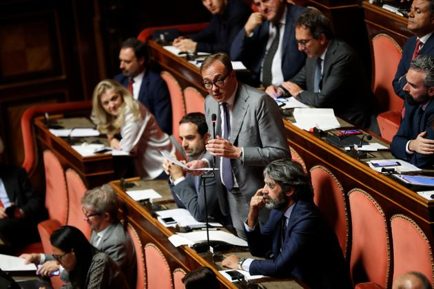 ROME, ITALY - AUGUST 09: Italian politician Tommaso Cerno during the discussion and the vote in the Senate...