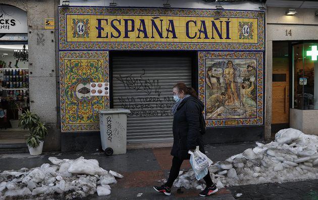 Una calle de Madrid, en mitad de la pandemia y tras las