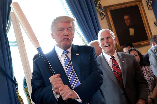 Trump y el vicepresidente Mike Pence, en julio de