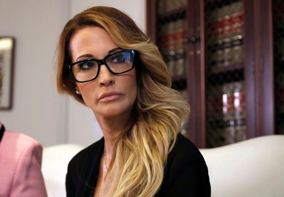 Jessica Drake lors d'une conférence de presse organisée à Los Angeles le 22...