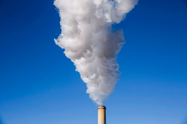 Steam billows from a coal-fired generating station near Hanna, Alta., on Dec. 13,
