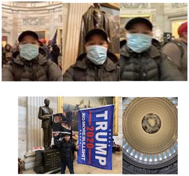Tam Dinh Pham took these photos after storming the Capitol, the feds say.
