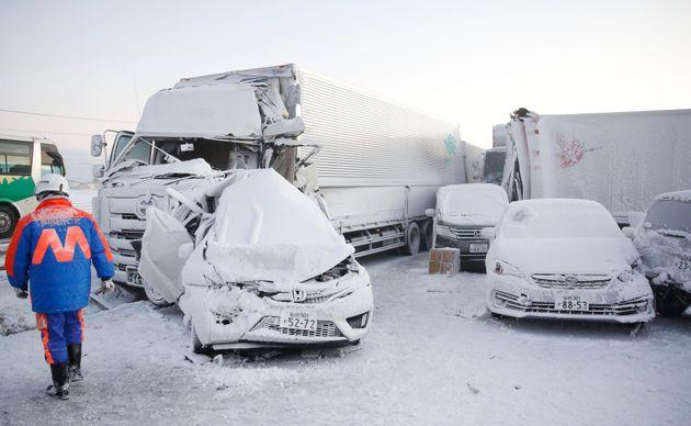 Ιαπωνία: Γιγαντιαία καραμπόλα με πάνω από 130 οχήματα - Ενας