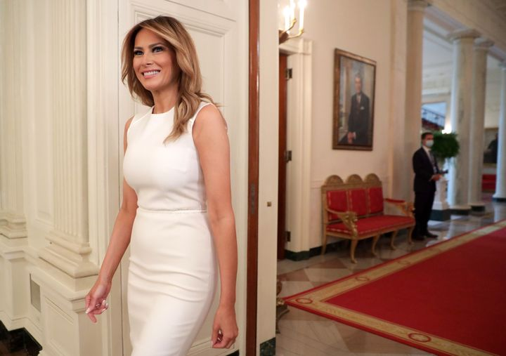 Outgoing U.S. first lady Melania Trump is being criticized for skipping the White House tradition of welcoming the incoming first lady into the home.