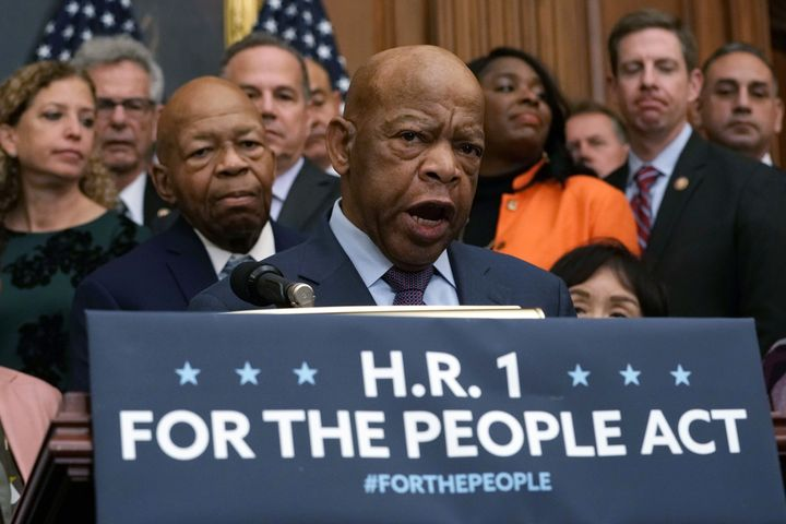 Rep. John Lewis (D-Ga.), who died in 2020, co-authored the voting rights modernization section of the For the People Act.