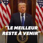 Pour son discours d'adieu, Trump promet que son