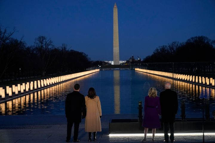 President-elect Joe Biden and his wife Jill Biden, along with Vice President-elect Kamala Harris and her husband, Doug Emhoff