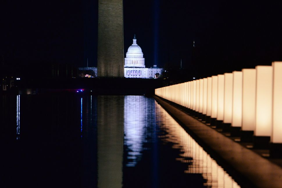 The memorial took place on the eve of Inauguration Day, which will look dramatically different from any other due to the pand