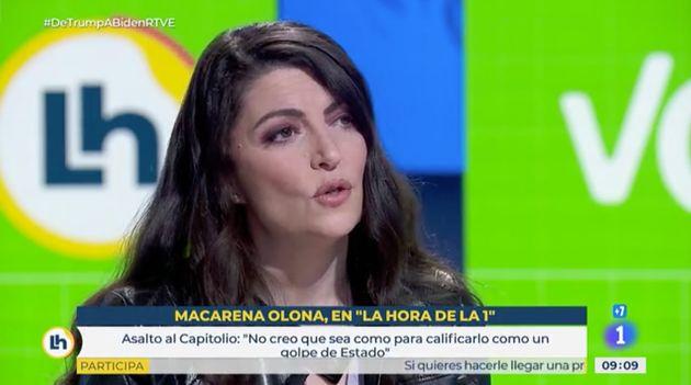 Macarena Olona, este miércoles en 'La Hora de la