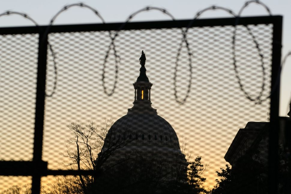 A view of the Capitol building during sunset in Washington, D.C., United States, on Jan. 19, 2021. Top security measurements