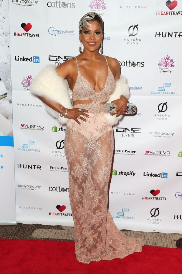 Pettifleur Berenger arrives ahead of the Casino Royale Gala Dinner on February 20, 2016 in Melbourne,