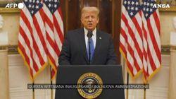 Trump saluta la sua presidenza: