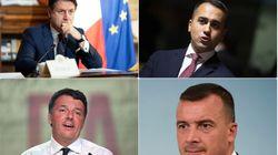 Conte, Di Maio, Renzi e Casalino davanti al