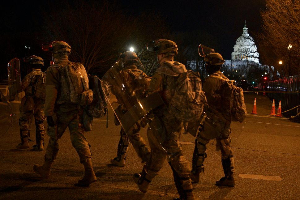 More than 25,000 troops and police have been called to duty.
