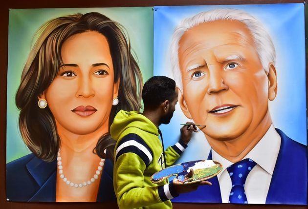 Mural de Kamala y