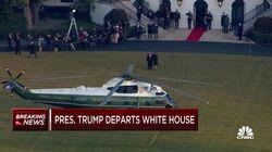 Donald Trump saluta la Casa Bianca: