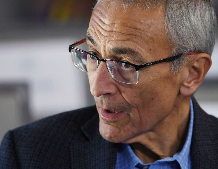 John Podesta attends a forum in Las Vegas on April 27, 2019.