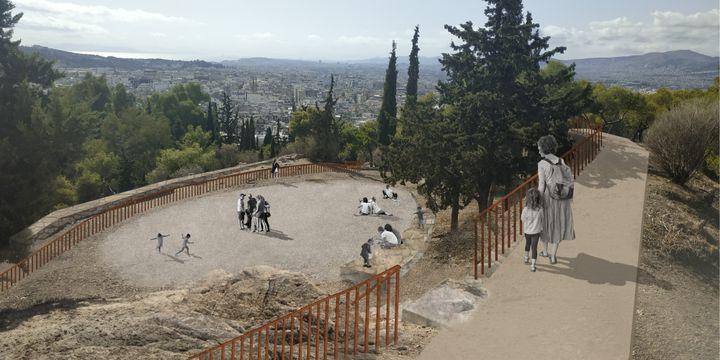 Λόφος του Στρέφη - πλατεία χαρταετού