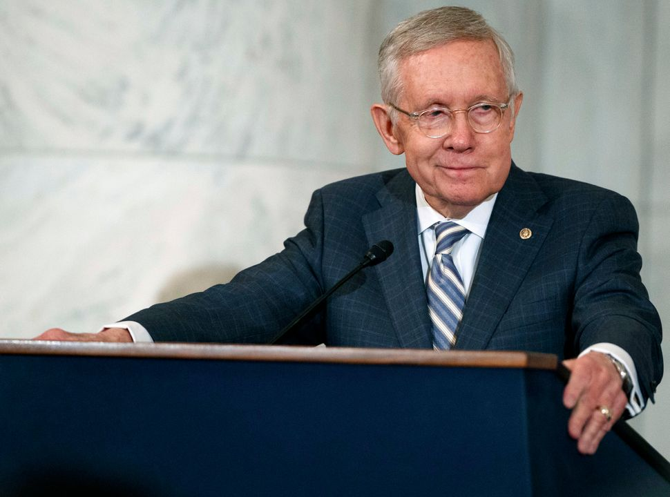 Former Senate Majority Leader Harry Reid (D-Nev.), pictured here in 2016, told HuffPost that Democrats should eventually