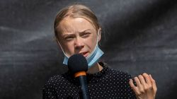 Greta Thunberg Burns 'Happy Old Man' Trump As He Leaves White House For Last