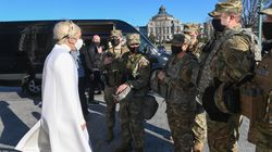 These Photos Of Lady Gaga Meeting Soldiers In Washington DC Has Everyone Making The Same