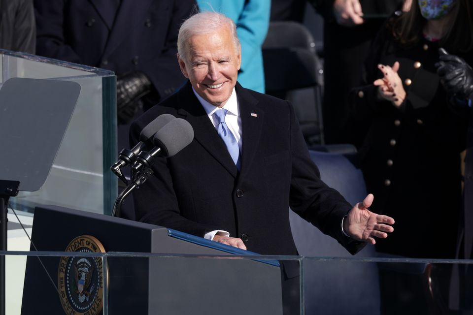 Joe Biden delivers his inaugural