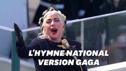 Lady Gaga a donné de la voix pour Biden et l'hymne national