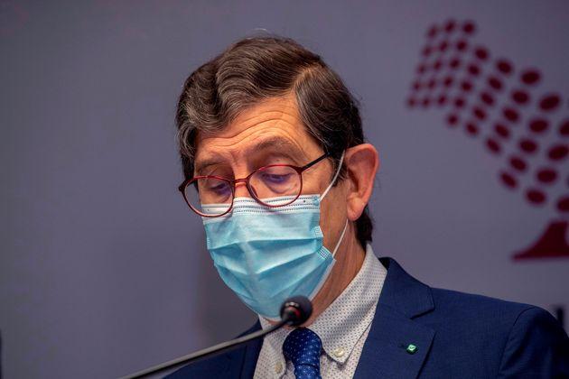El consejero de Sanidad de Murcia, Manuel Villegas, este miércoles 20 de